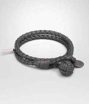 Bottega Veneta Light Gray Intrecciato Nappa Bracelet