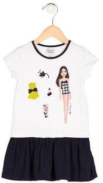 Armani Junior Girls' Graphic Print Short Sleeve Dress