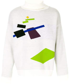 Gosha Rubchinskiy geometric turtleneck sweater