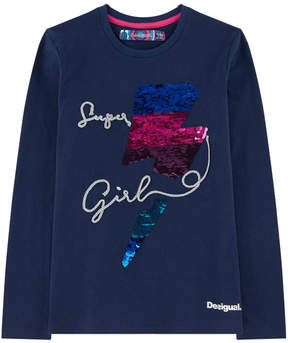 Desigual T-shirt with reversible sequins