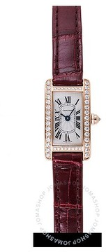 Cartier Tank Americaine Silvered Flinque Dial Ladies Watch