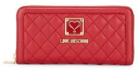 Love Moschino Quilted Zip Wallet