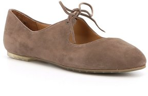 Me Too Cacey14 Mary Jane Suede Tie Flats