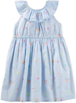 Osh Kosh Oshkosh Bgosh Toddler Girl Striped Ruffled Dress