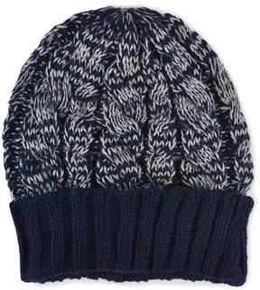 Muk Luks Two-Tone Cable-Knit Cuff Beanie - Men