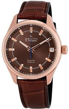 Zenith El Primero Espada Brown Dial Brown Leather Men's Watch