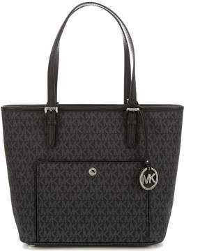 MICHAEL Michael Kors Jet Set Signature Snap-Pocket Small Tote - BLACK - STYLE
