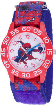 Marvel Spiderman Boys Blue Strap Watch-Wma000193