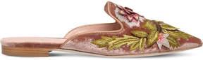 Alberta Ferretti Floral velvet slippers
