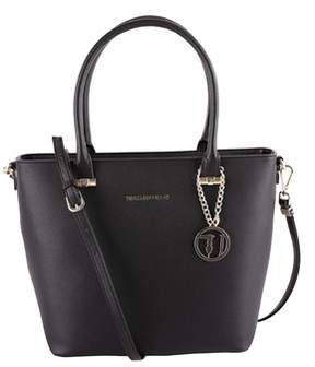 Trussardi Jeans Women's Black Polyester Shoulder Bag.