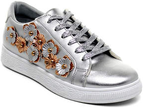 Refresh Silver & Rose Gold Floral Action Sneaker