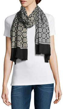 Fraas Oblong Geometric Scarf
