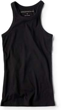 Aeropostale Solid Ribbed High-Neck Tank