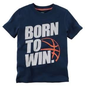 Carter's Boys 'Born to Win' Graphic Boy's Tee Shirt, Navy