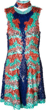 Christian Siriano sequin embellished dress