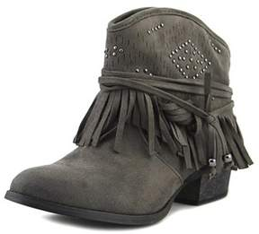 Not Rated Fancy Free Women Round Toe Synthetic Gray Ankle Boot.