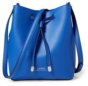 Lauren Ralph Lauren Dryden Drawstring Leather Mini Bucket Bag