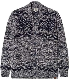 Timberland Grey Wool Shawl Neck Cardigan
