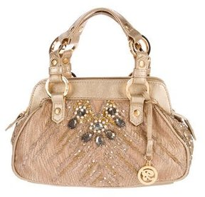 Blumarine Embellished Lace Handle Bag