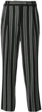 Alberto Biani striped tapered trousers