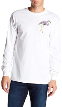 Riot Society Onate Flamingo Graphic Long Sleeve Shirt