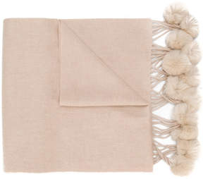 N.Peal woven bobble scarf
