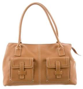 Loro Piana Grained Leather Shoulder Bag
