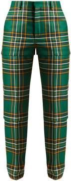 Balenciaga Tartan high-rise trousers