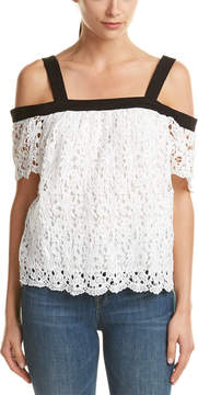 Do & Be DO+BE Do+Be Cold-Shoulder Lace Top
