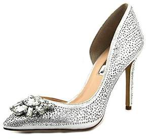 INC International Concepts Kenjay2 Women Pointed Toe Canvas Silver Heels.