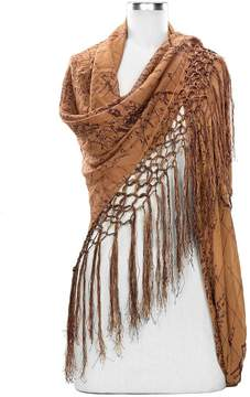 Patricia Nash Signature Map Collection Amelia Macrame-Fringed Scarf
