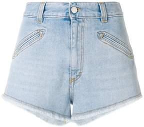 Fiorucci frayed hem denim shorts