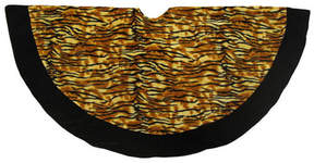 Asstd National Brand 48 Tiger Animal Print with Black Trim Christmas Tree Skirt