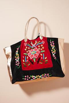 Momo Design Embroidered Glimmer Tote Bag