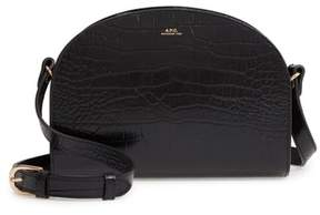 A.P.C. Sac Demi Lune Leather Shoulder Bag