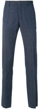 Pt01 skinny chambray trousers