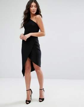Club L One Shoulder Asymetric Slinky Dress