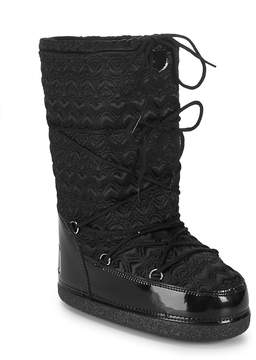 Love Moschino Women's Textured Logo Mid-Calf Boots