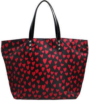 Hearts Printed Nylon Tote Bag