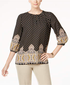 Charter Club Border-Print Top, Created for Macy's