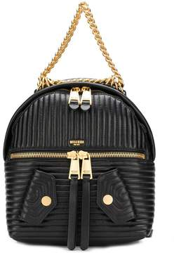 Moschino quilted chain-trim backpack