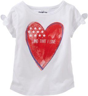 Osh Kosh Toddler Girl Patriotic Glitter Tee