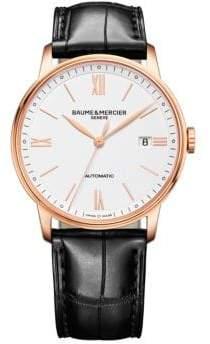 Baume & Mercier Classima 10271 18K Red Gold & Alligator Strap Watch