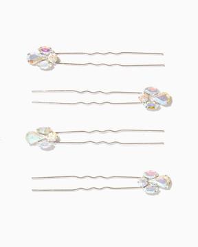 Charming charlie Icy Tips Hair Pin Set