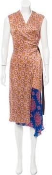 Dries Van Noten Silk Wrap Dress