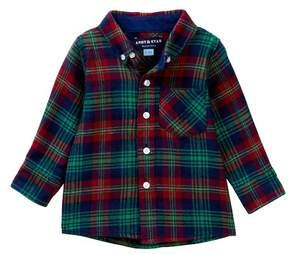 Andy & Evan Plaid Flannel Shirt (Baby Boys)