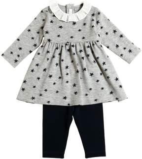 Il Gufo Stars Viscose Knit Dress & Leggings