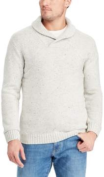 Chaps Big & Tall Classic-Fit Donegal Textured Shawl-Collar Sweater