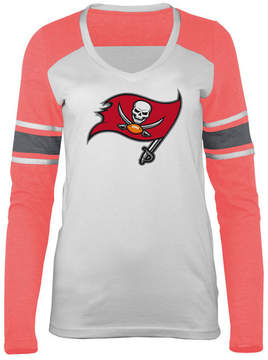 5th & Ocean Women's Tampa Bay Buccaneers Back Block Long Sleeve T-Shirt