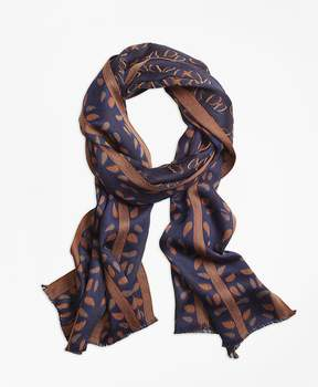 Brooks Brothers Paisley Jacquard Oblong Scarf